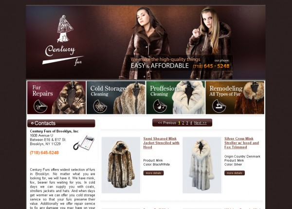 Fur Retail Store E-Commerce Website in Brooklyn