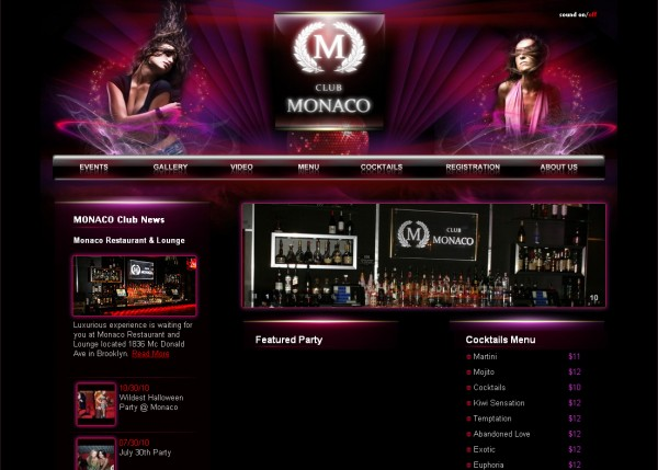 New York: Monaco Club and Restaurant  - Night Life Website