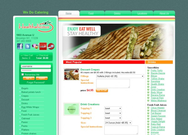 Restaurant e-commerce & online ordering website in Brooklyn