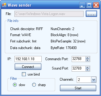 Wave High End Audio Streaming Server Application