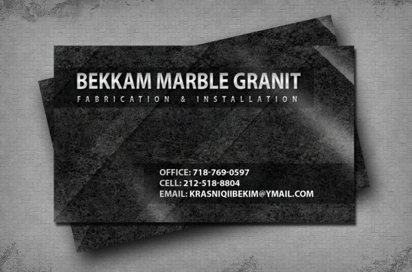 Professional Business Card Design and Print Service - Marble and Granite Fabrication