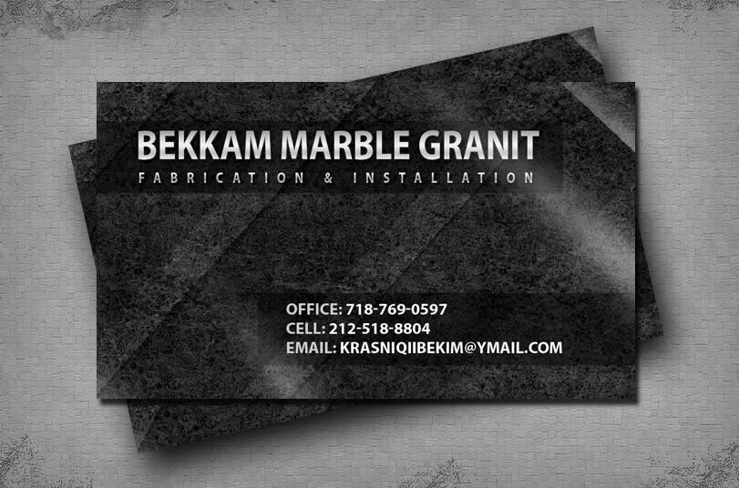 Professional business card print and design bekkam marble studio professional business card design and print service marble and granite fabrication reheart