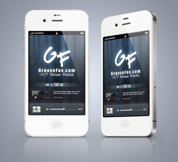 DJ Groovefox iPhone 4S Radio Streaming Application Development