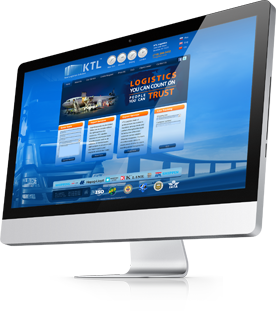 monitor sample website for logistics company