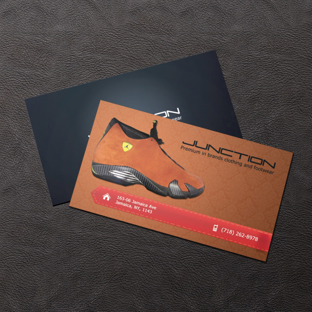 Footwear company business card print studio sky7 brooklyn nyc footwear nyc print and design service marketing reheart Choice Image